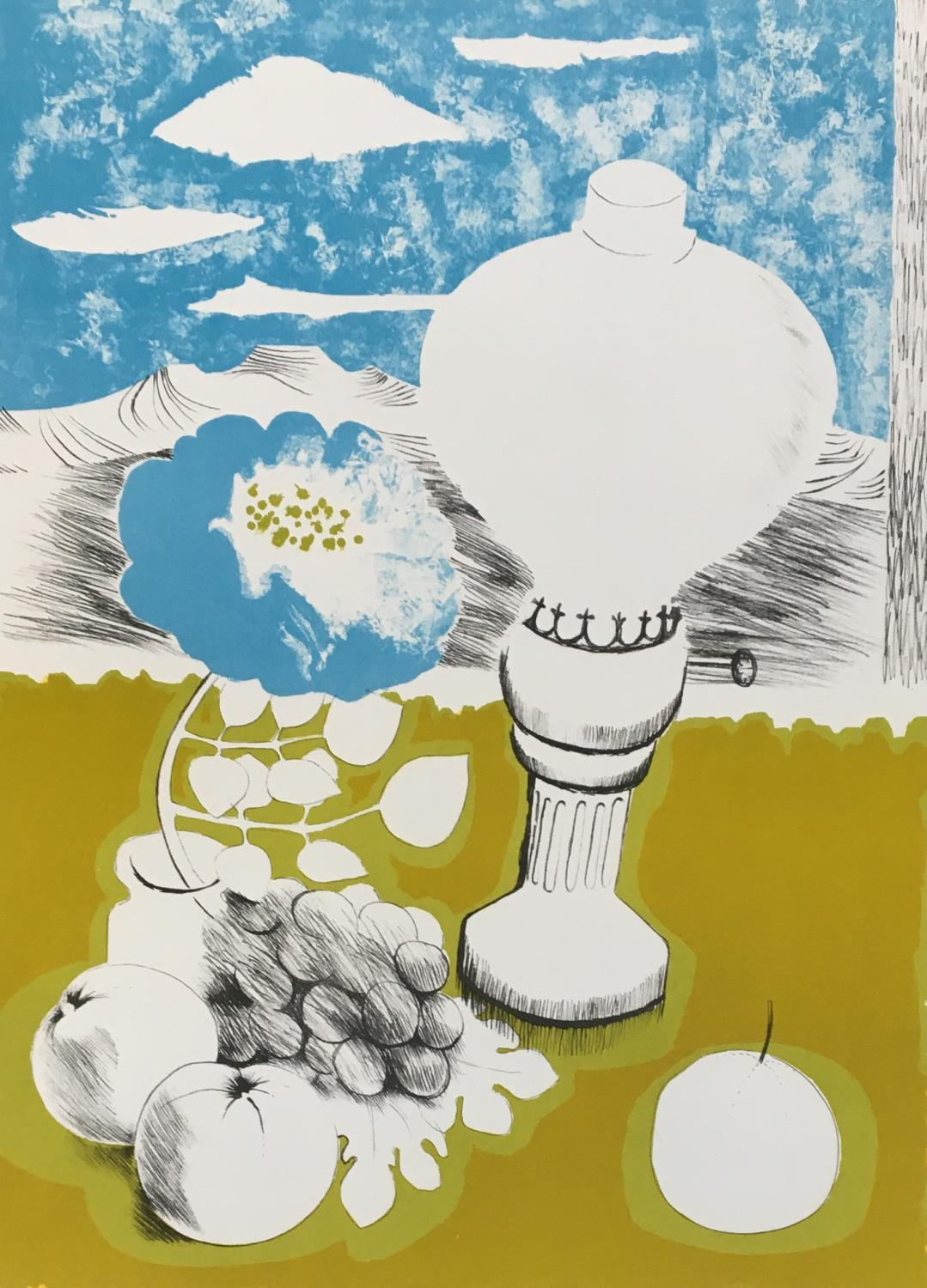Mary Fedden LG RA, British 1915-2012- 'The Lamp'; lithograph printed in colours, signed and numbered