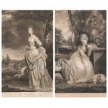 Two Portrait Mezzotints after Sir Joshua Reynolds; Mrs Mathew, engraved by W. Dickinson and