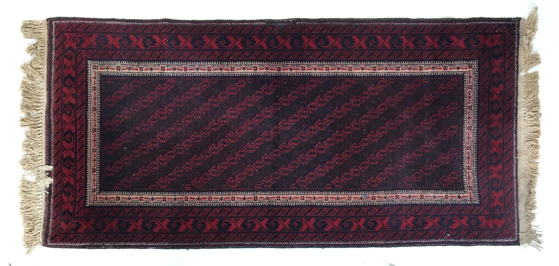 A small Persian runner rug, 89x185cm