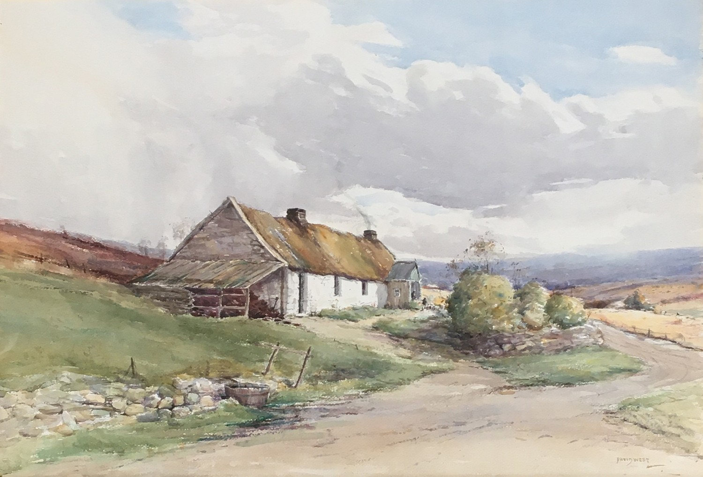 David West, R.S.W. (1868-1936), Highland cottage near Glenfasclas between Aberloui and