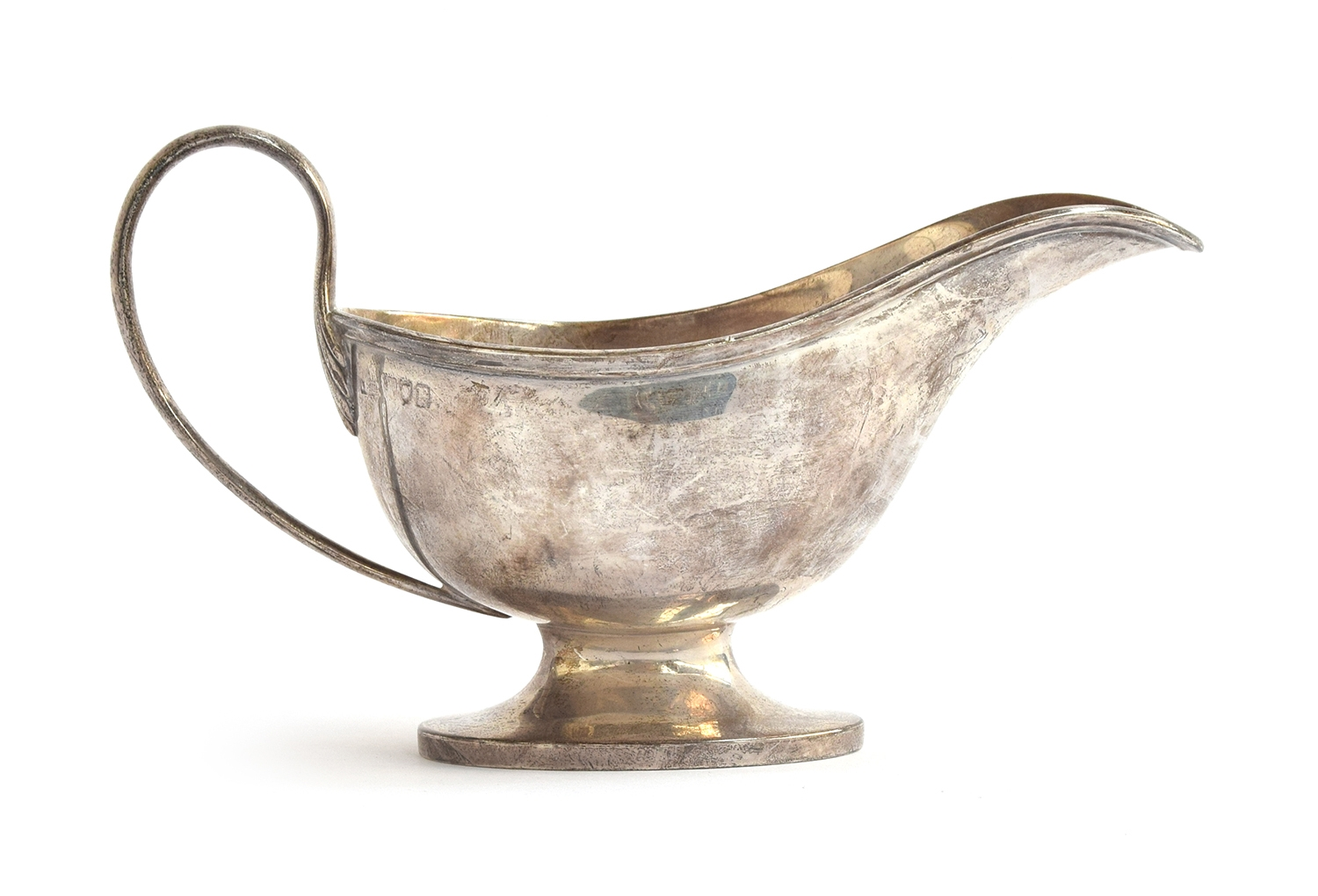 A large silver sauce boat by Asprey & Co, London 1912, 6oz - Image 2 of 2