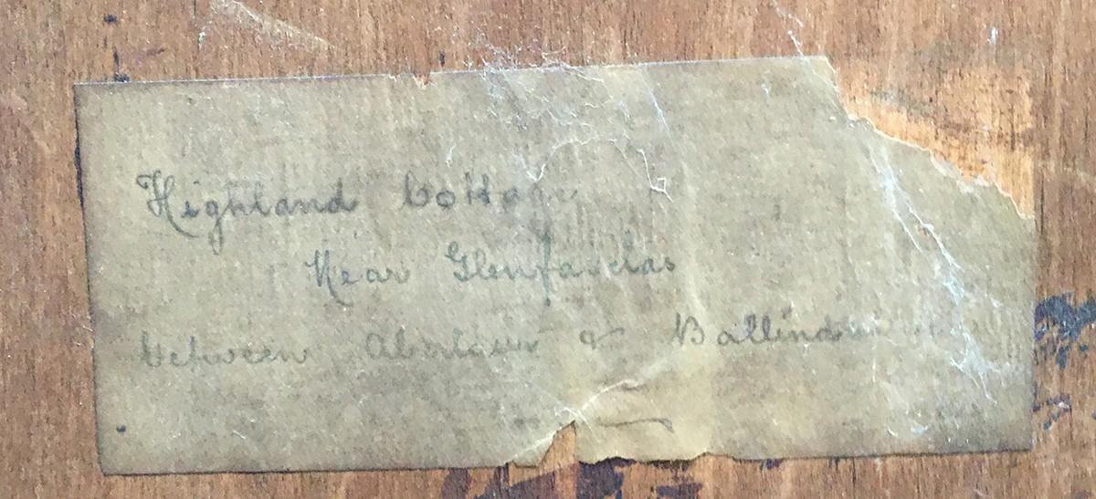 David West, R.S.W. (1868-1936), Highland cottage near Glenfasclas between Aberloui and - Image 4 of 6