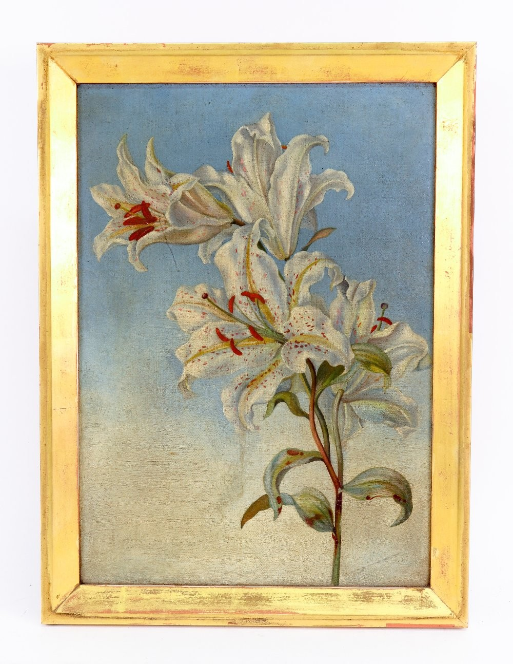 Alice Mary Mansford (British, 19th Century), Still life of lilies, inscribed 'Alice Mary Mansford - Image 2 of 2