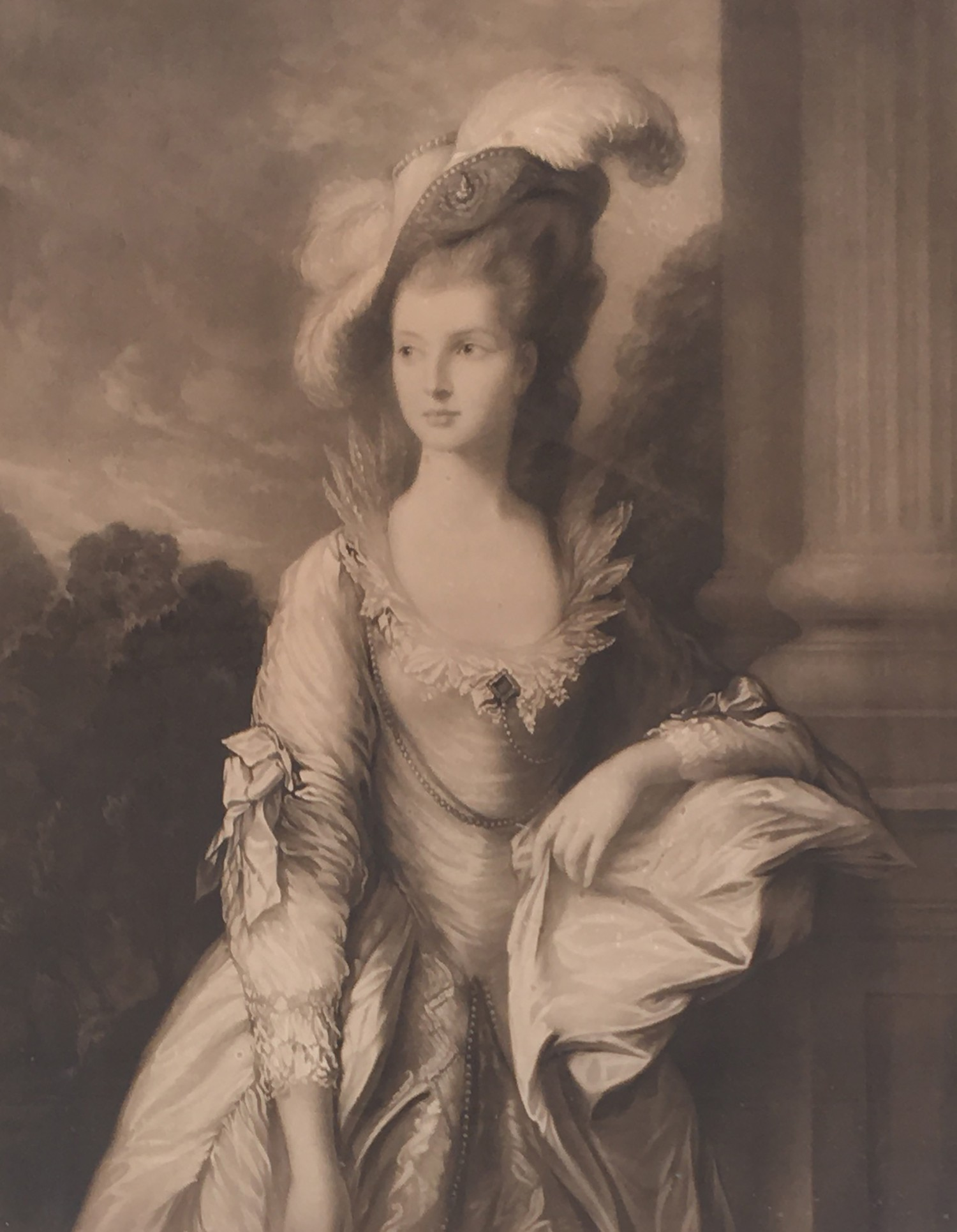 After Thomas Gainsborough, Portrait of the Hon. Mrs Thomas Graham, head and shoulders, engraved by