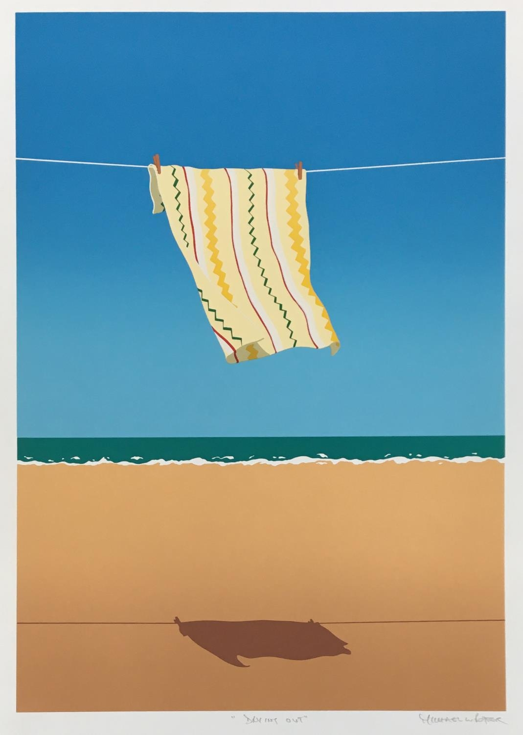 Michael Potter (British, b.1951) 'Drying Out', screenprint, unframed, signed and titled in pencil, - Image 2 of 2
