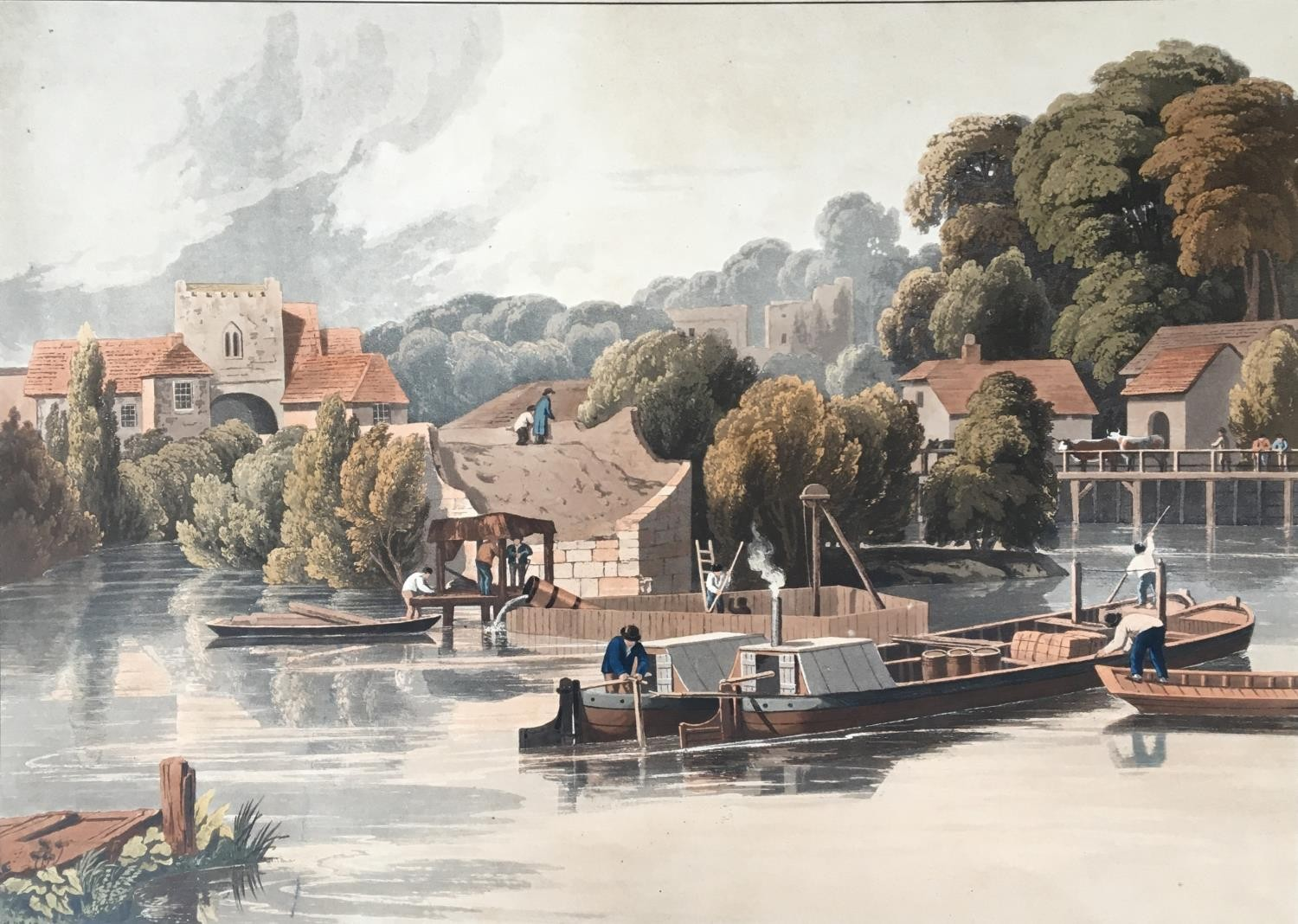 A collection of ten 19th century chromolithographs after William Havell, 'An Island On The Thames - Image 3 of 10