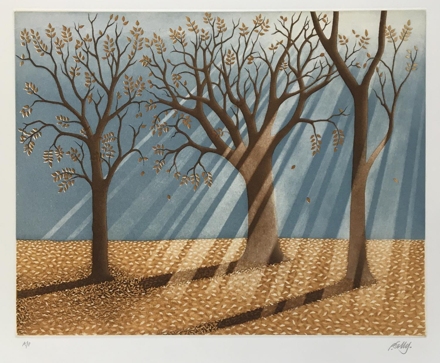 Philip Solly (20th century British school), Untitled, colour etching, artist proof, signed in - Image 2 of 2