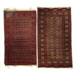 Two small West Persian rugs, 165x94cm and 152x87cm