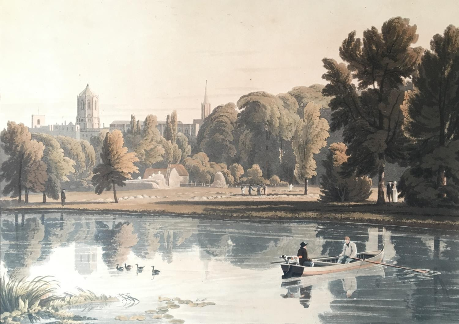 A collection of ten 19th century chromolithographs after William Havell, 'An Island On The Thames - Image 8 of 10