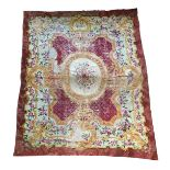 An extremely large Continental rug, 445x580cm
