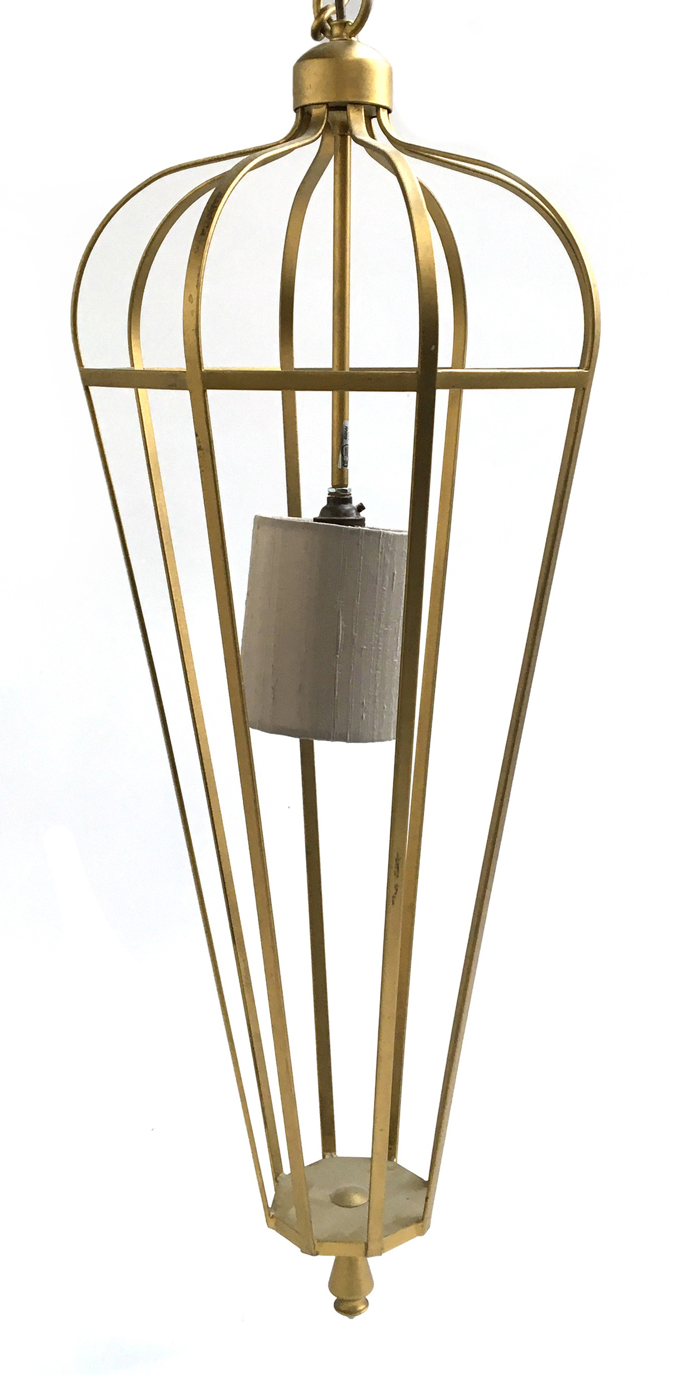 A Jim Lawrence hanging chandelier, 87cm high, the chain approximately 110cm long