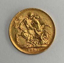 A 1901 gold sovereign