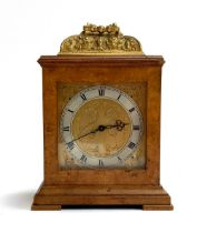 A walnut cased mantel clock, 11 jewel movement by Zenith Watch Co.