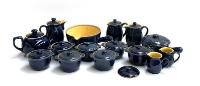 A quantity of blue Denby stoneware, approx. 15 pieces, to include small lidded tureens, jugs, pan