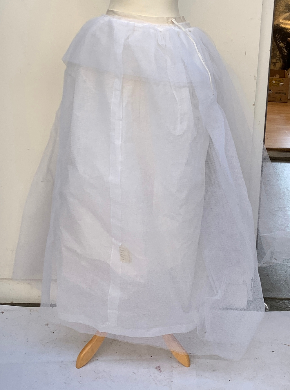 A vintage Lilywhites tennis skirt, together with an underskirt, hooped skirt, etc, in a large - Image 3 of 5