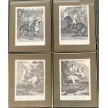 Engraved by Johann Elias Ridinger, `Der Galop ger ad aus Lincks'; 'Palotaden Rechts'; Die Parade