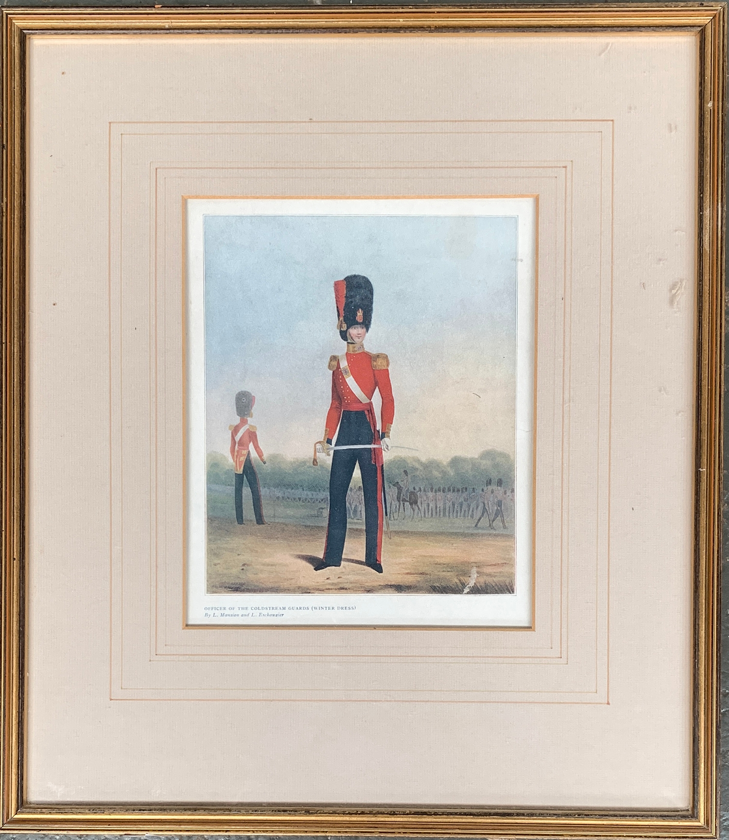 18th century colour after Canu, 'Garde Royale Tambour-Major', 18x12cm; together with a colour - Image 2 of 2
