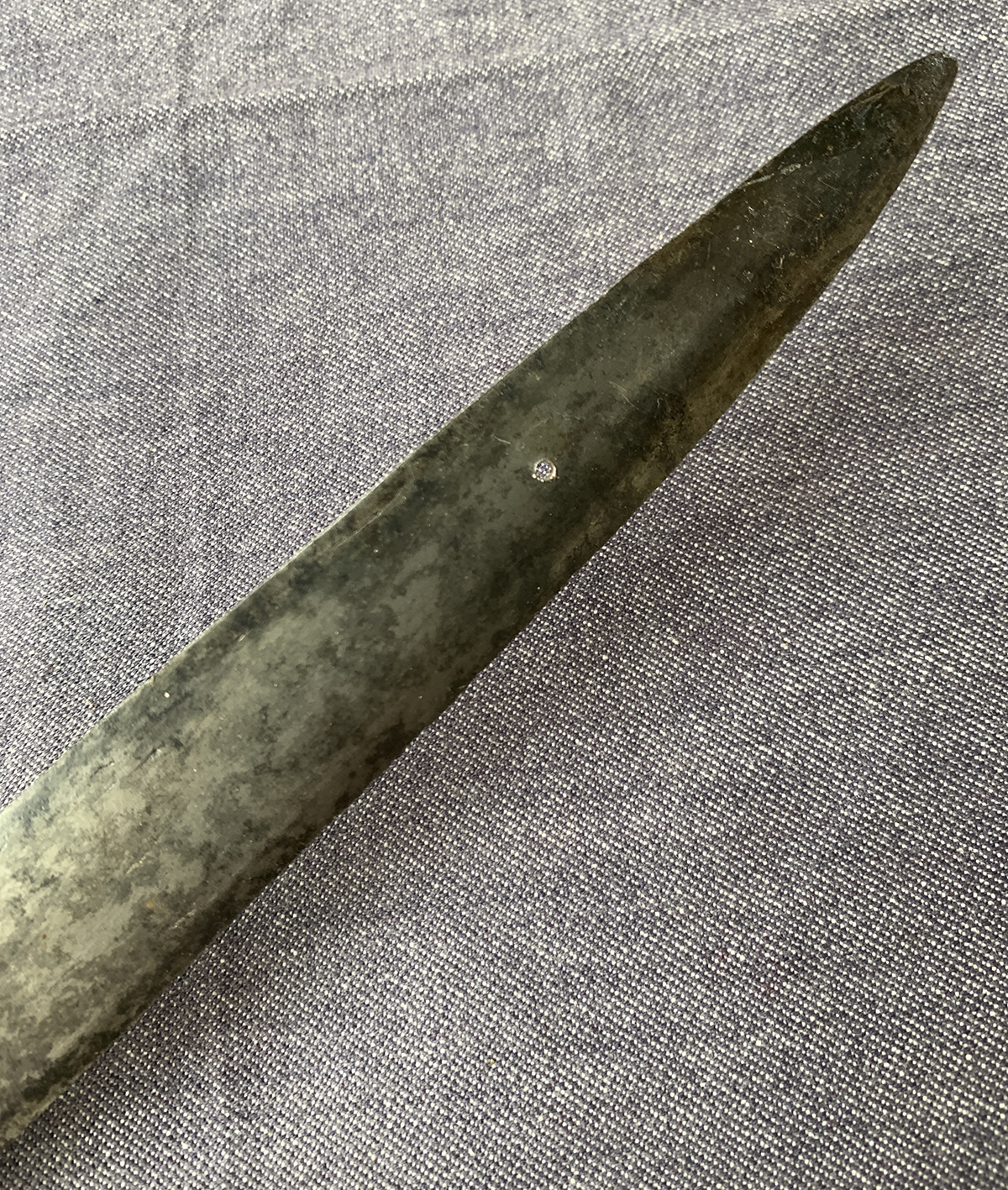 An Indian Talwar sword with single edges straight 85cm blade - Image 5 of 5