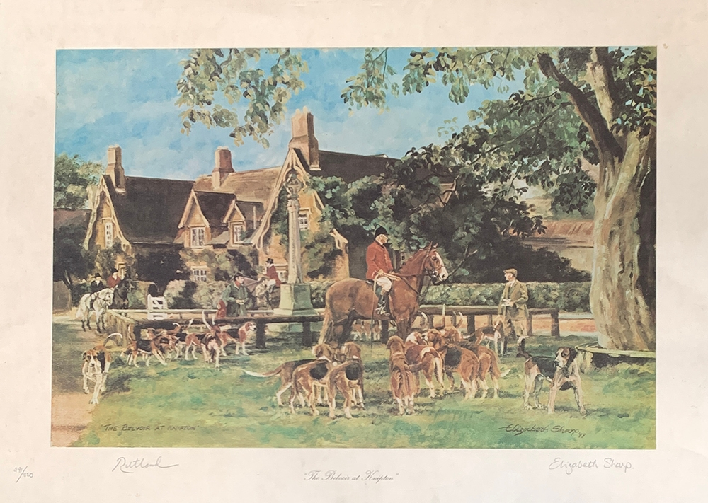 After Elizabeth Sharp, 1979, 'The Beaver Belvoir at Knipton' signed by the artist in pencil and