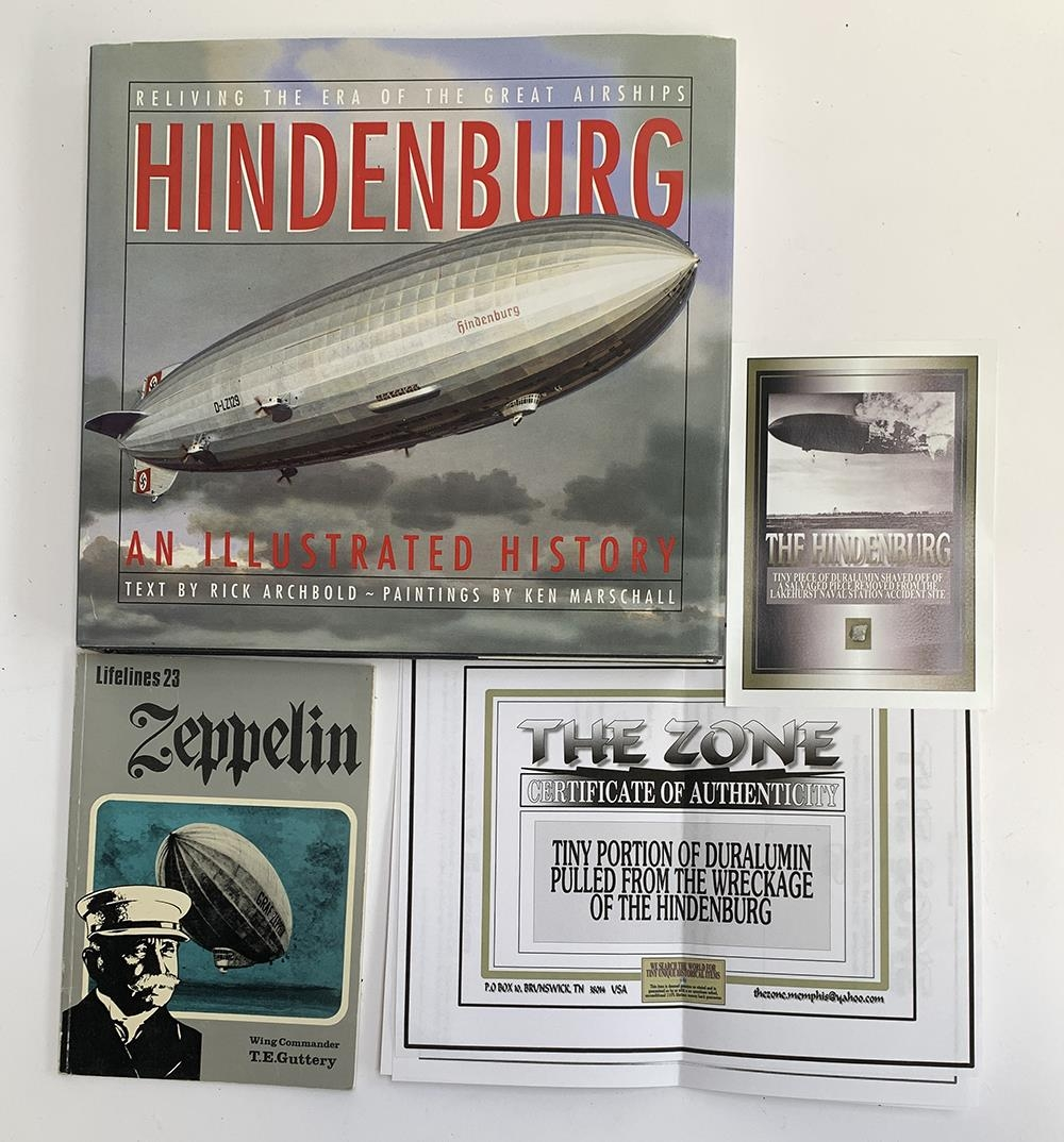Hindenburg interest, a tiny piece of duralumin shaved off of a salvaged piece removed from the naval