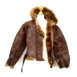A WW1 size 2 brown leather flying jacket, from the estate of Air Marshal Sir Aubrey Beauclerk