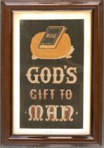 An early 20th century embroidery 'God's Gift to Man', 44x26cm