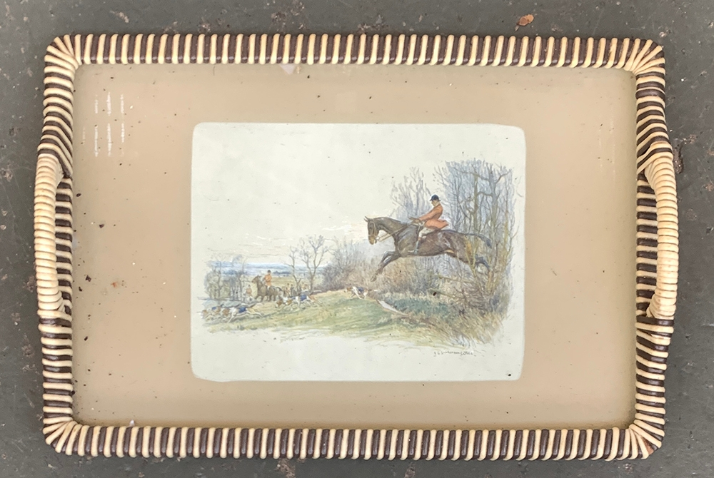 After H. Vernet, a set of six colour engravings depicting huntsmen, each 17x21cm; together with a - Image 2 of 2