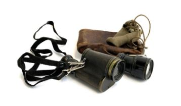 A Karl Zeiss Jena 6x leather cased monocular; together with one other small monocular by J.H