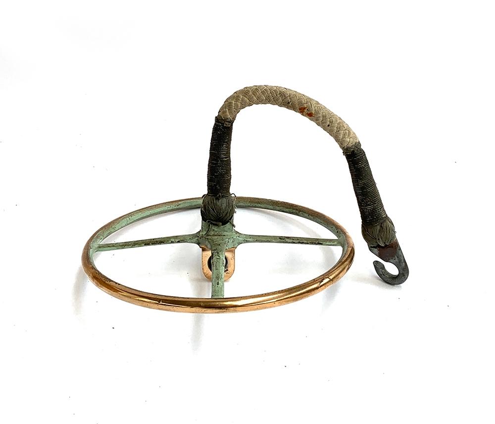 Naval interest, part a brass walker's commodore, 27.5cm diameter