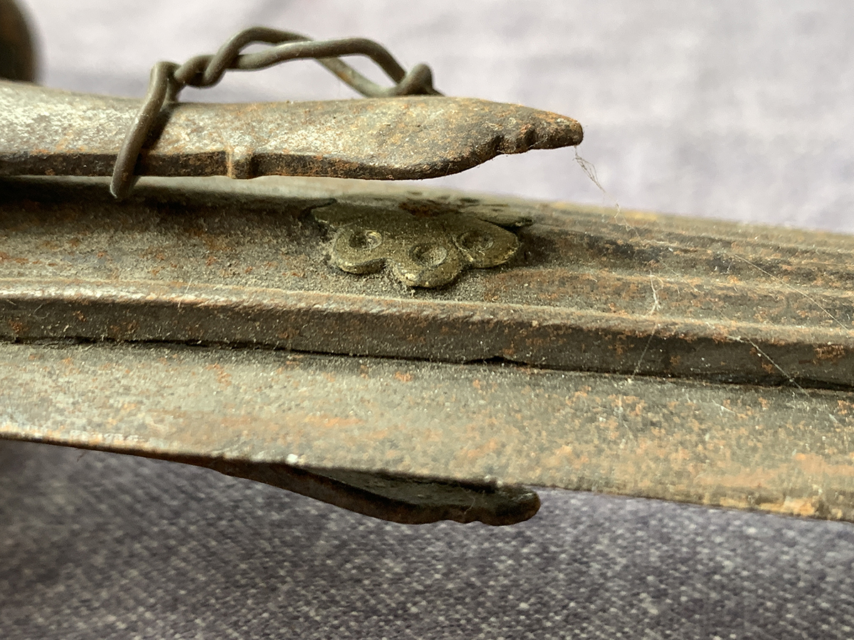An Indian Talwar sword with double edged 84cm blade; together with one other with broken blade (2) - Image 3 of 4