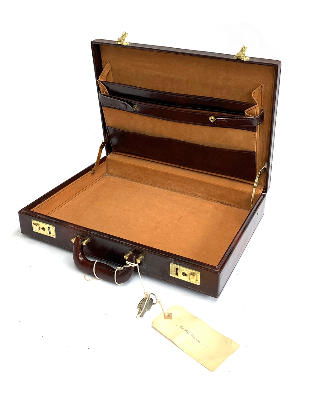 A brown writing case, 43cmx31x8cm - Image 2 of 2