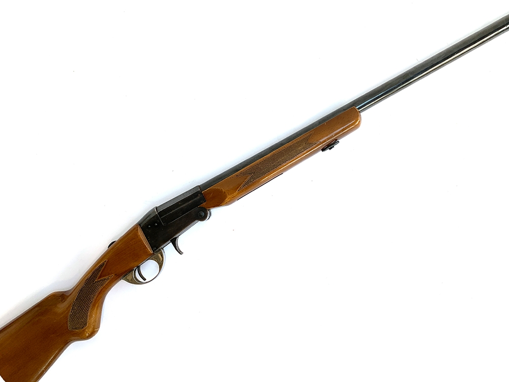 A Polarms single barrel 12 bore ejector shotgun, S/N 4513, length of barrel 70.5cm