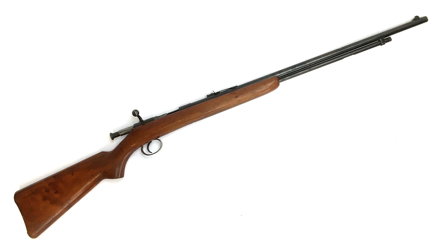 A BSA bolt action single shot 22 rifle, with open sights, ser.51367 - Image 2 of 2