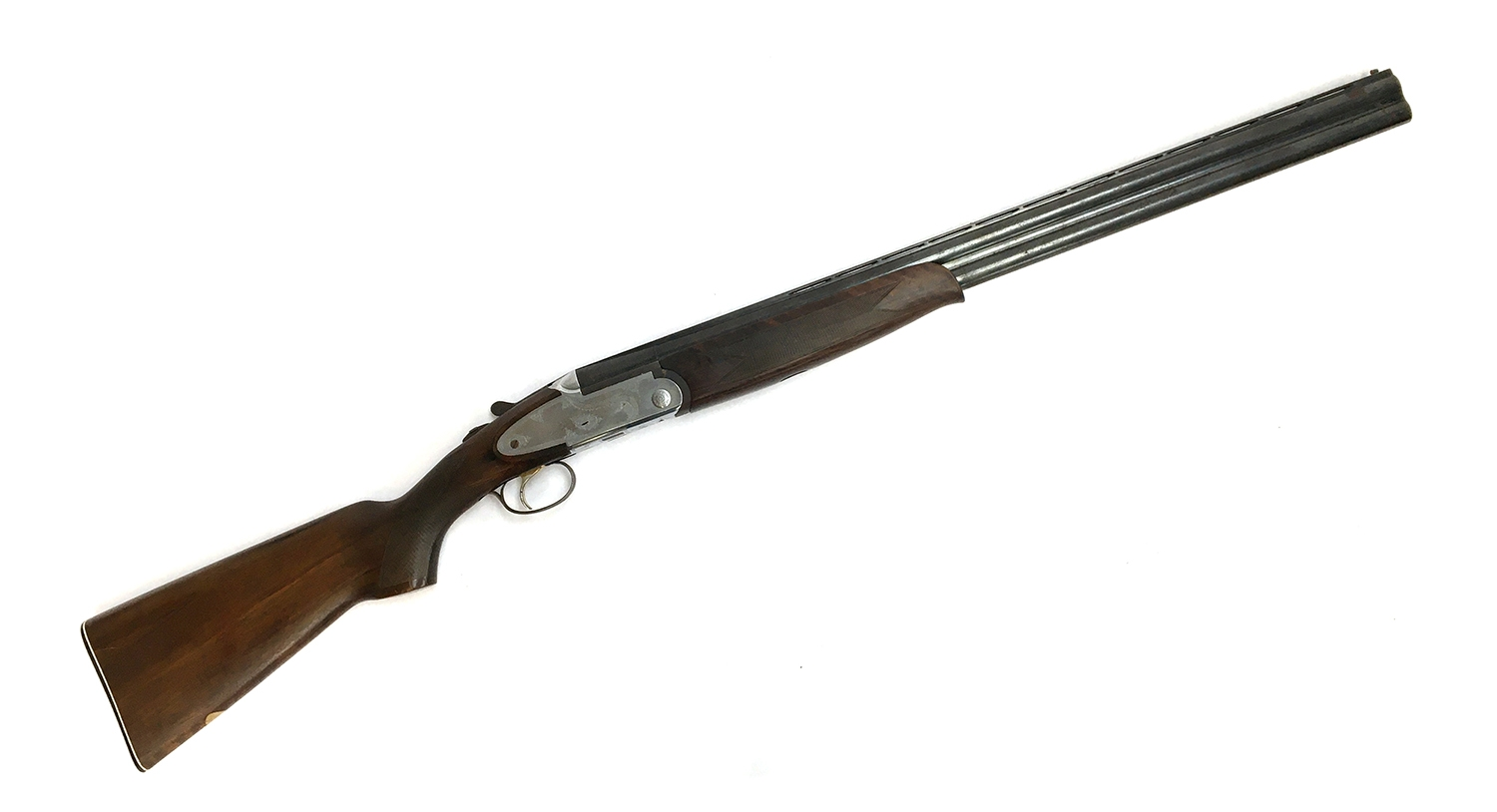 A Lincoln 12 bore over and under single trigger ejector shotgun, auto-safe, semi-pistol grip, - Image 2 of 2