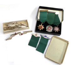 A collection of 'The Royal Society for the Prevention of Accidents' safe driving competition medals,
