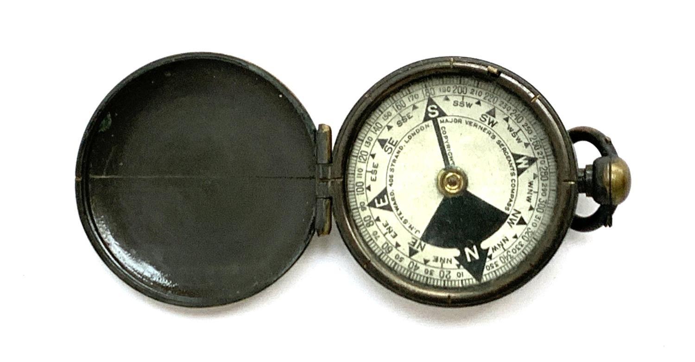 A brass 'Major Verner's Sergeant's Compass' by J.H Steward of London, 4.7cmD