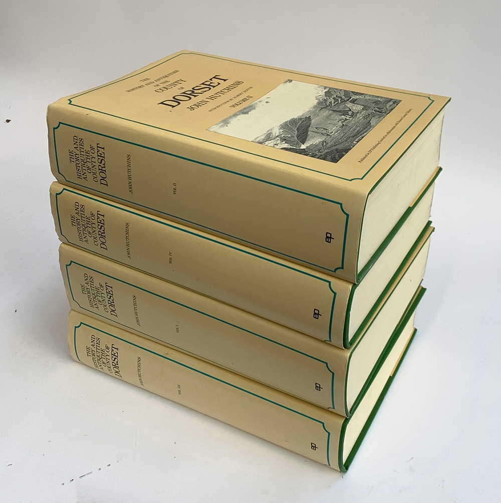 The History and Antiquities of the County of Dorset, 4 vols, green cloth with dust jackets, EP