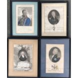 A further lot of four military officers: Lieutenant General The Marquis of Anglesea, 18.5x12cm;