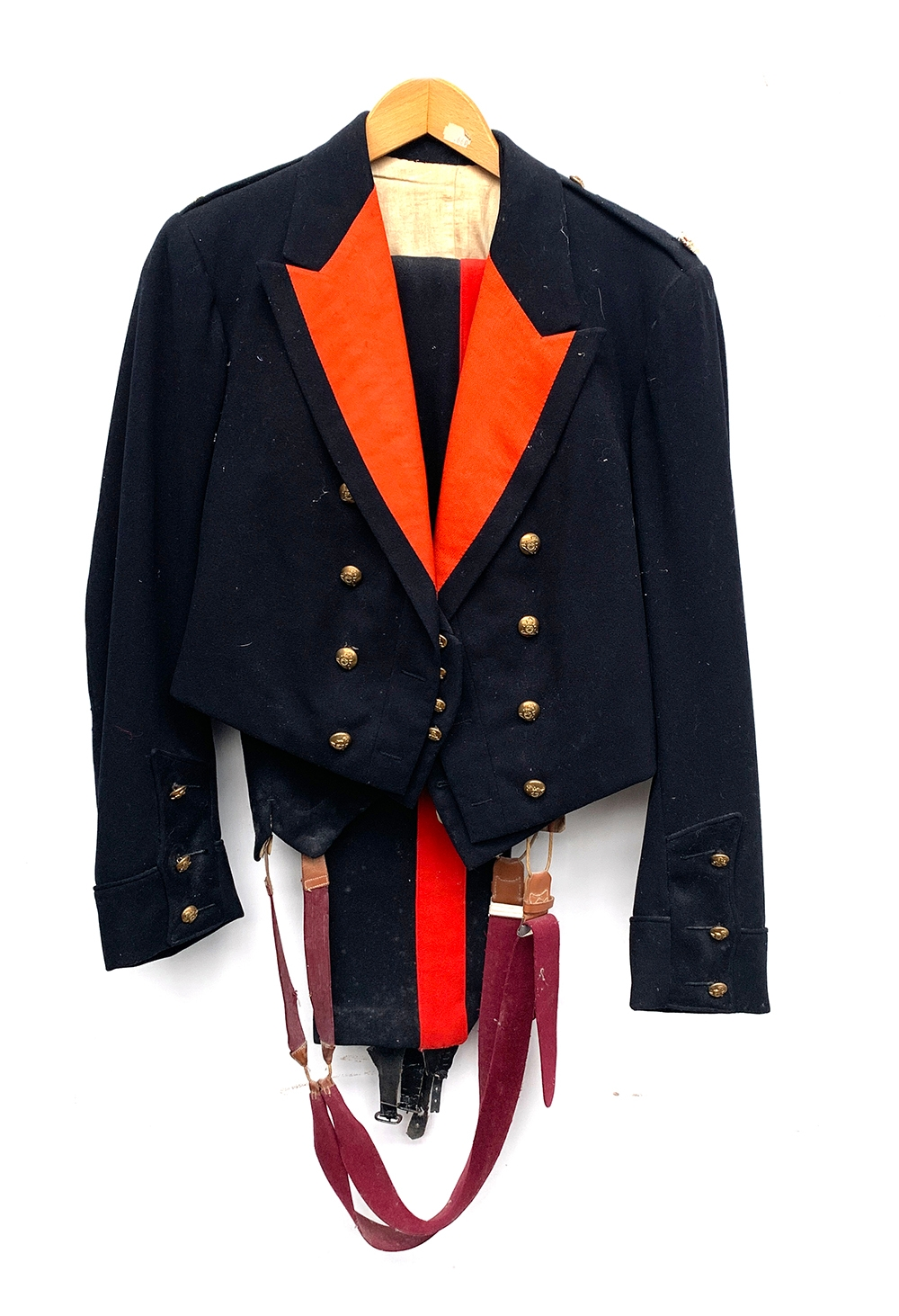 Royal Artillery mess dress - three pieces with buttons, together with a second pair of trousers