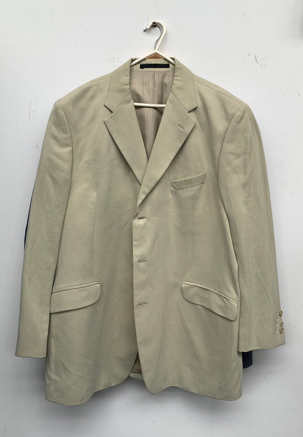 """Two linen jackets, approx. 44"""" chest"""