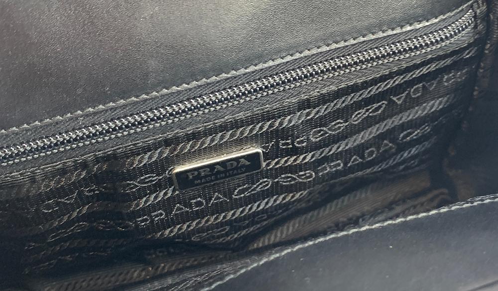 A Prada black leather handbag, with felt dust bag - Image 3 of 4