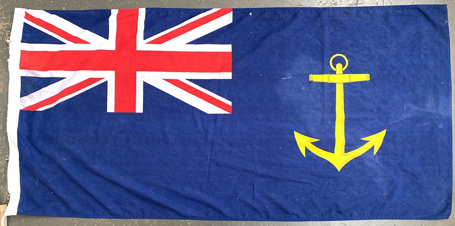 A Royal Fleet Auxiliary Ensign Government Service Ensign, 2009, 92x184cm