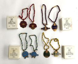 A collection of four pairs of ladies and gents Royal Hong Kong Jockey Club medals, 1972-73 'No.