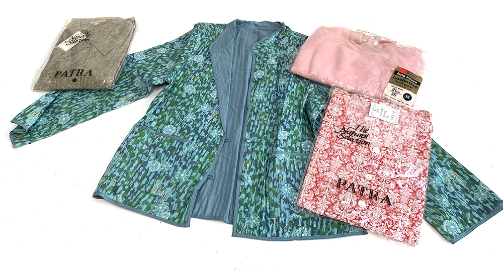 A vintage cashmere jumper, together with a cotton jacket, and two shirts by Patra, together with a