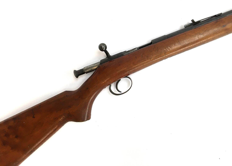 A BSA bolt action single shot 22 rifle, with open sights, ser.51367
