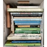 A mixed box of books on fishing, mainly trout and fly-fishing