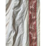 A very large pair of curtains, lined and interlined, 230cm drop, 340cm wide ungathered