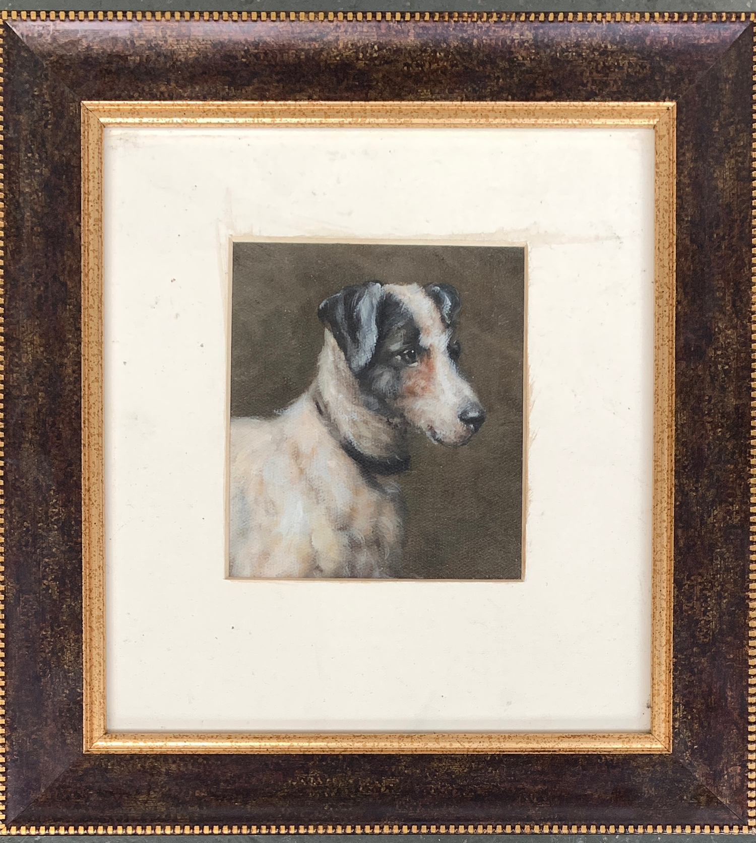 20th century British school, study of a jack russell terrier, oil on board, 15x13cm
