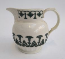 19th century Spode jug, with aesthetic floral design in relief