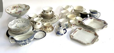 A mixed lot of teawares to include Royal Stafford, Royal Vale, Grimwade, Spode etc